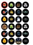 24 x Angry Birds Star Wars Wafer Paper Cup Cake Tops